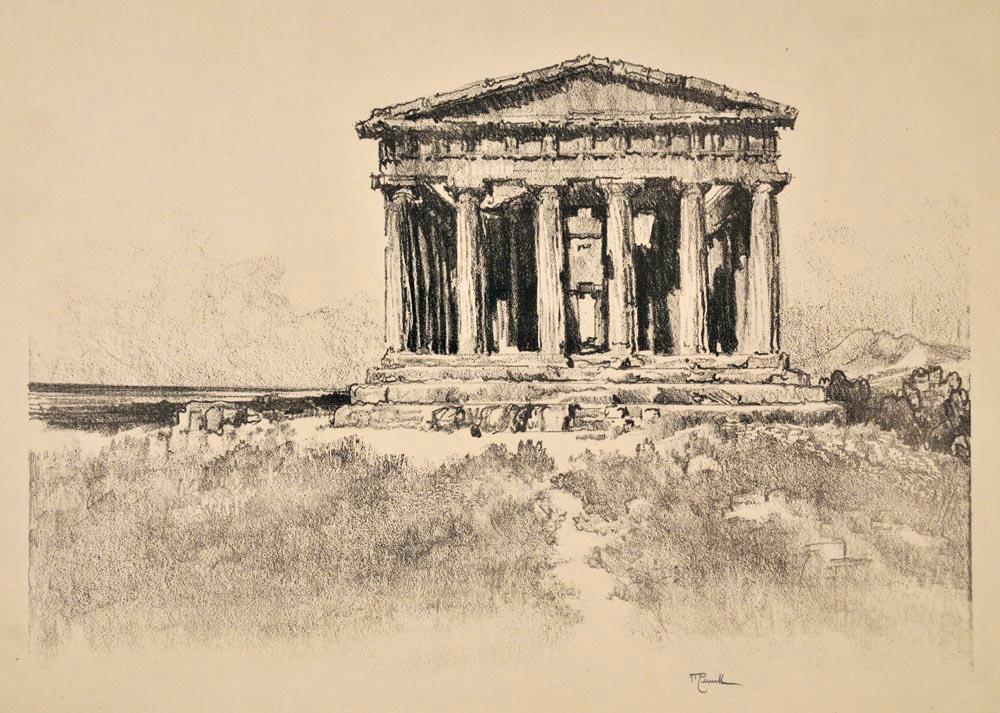 """Templo de la Concordia en Agrigento. En: """"In the Land of Temples"""""""