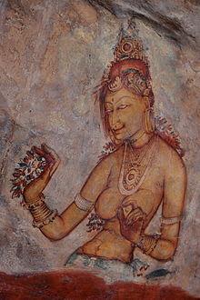 Fresco de una doncella en el interior de la ciudadela. Foto (CC): Wikipedia.
