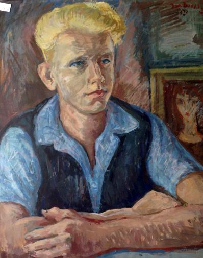Jan Budding (vroeg) portret van ?