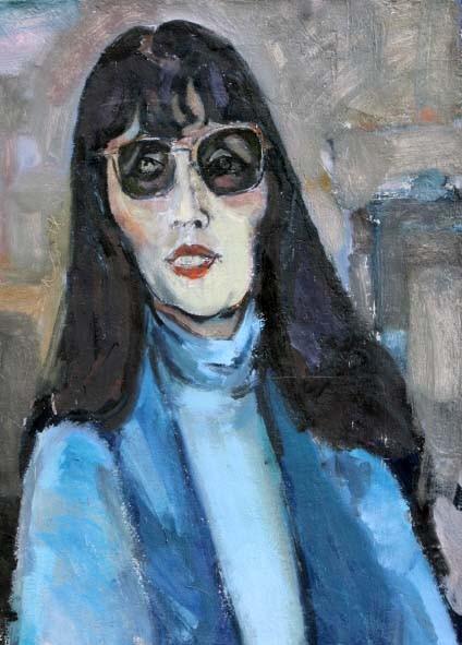 "Jan Budding ""Portret Ans Wortel"" olieverf"