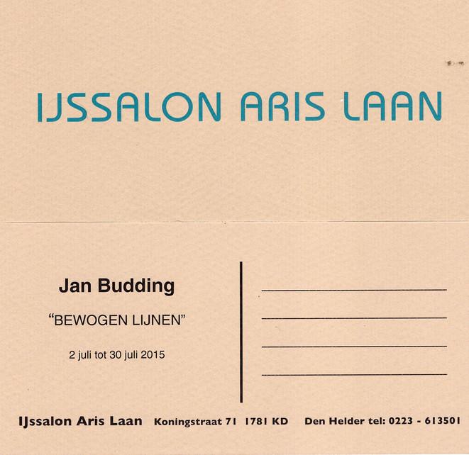 Jan Budding verkoop-tentoonstelling gedurende maand  juli 1915 in Den Helder dagelijks te bezichtigen.