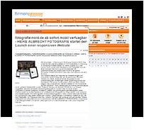 """Screenshot Pressemitteilung / Heike Albrecht Fotografie / 1-2018: """"FIRMENPRESSE"""""""
