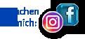 """Grafik: Button """"Besuchen Sie mich auf Facebook & Instagram"""" - Heike Albrecht Fotografie"""