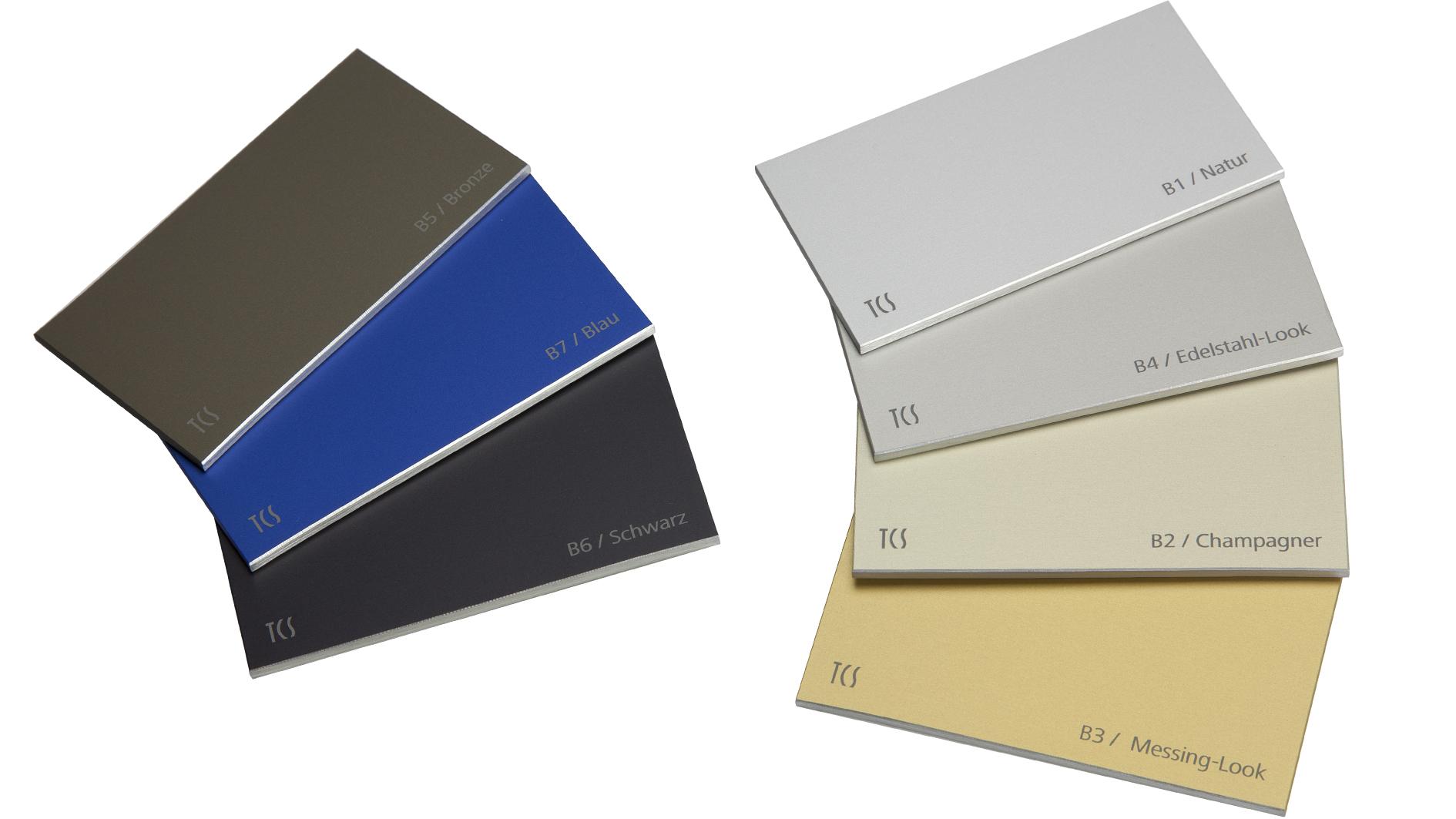 Aluminium natur und farbig eloxiert