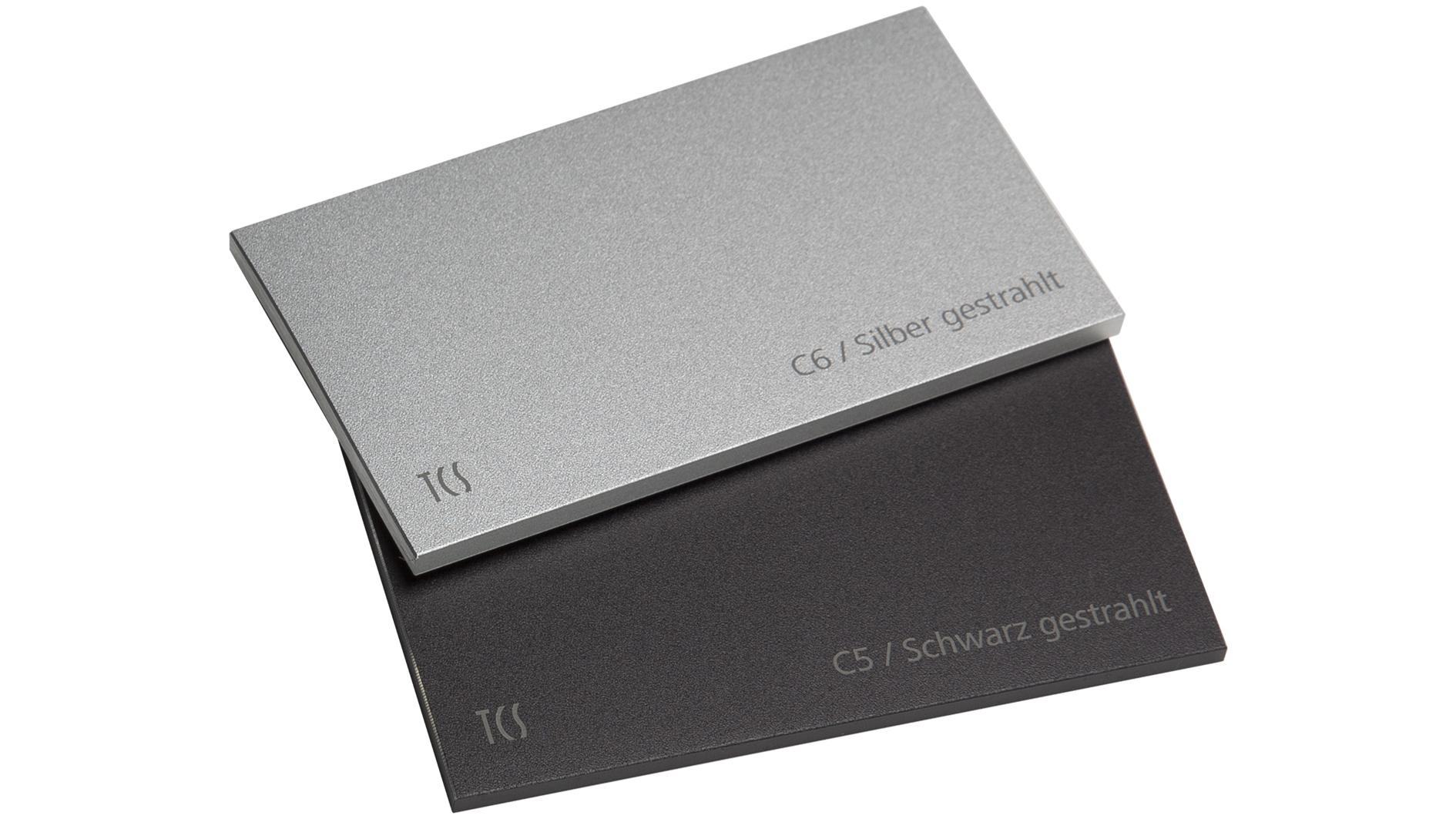 Aluminium gestrahlt und eloxiert