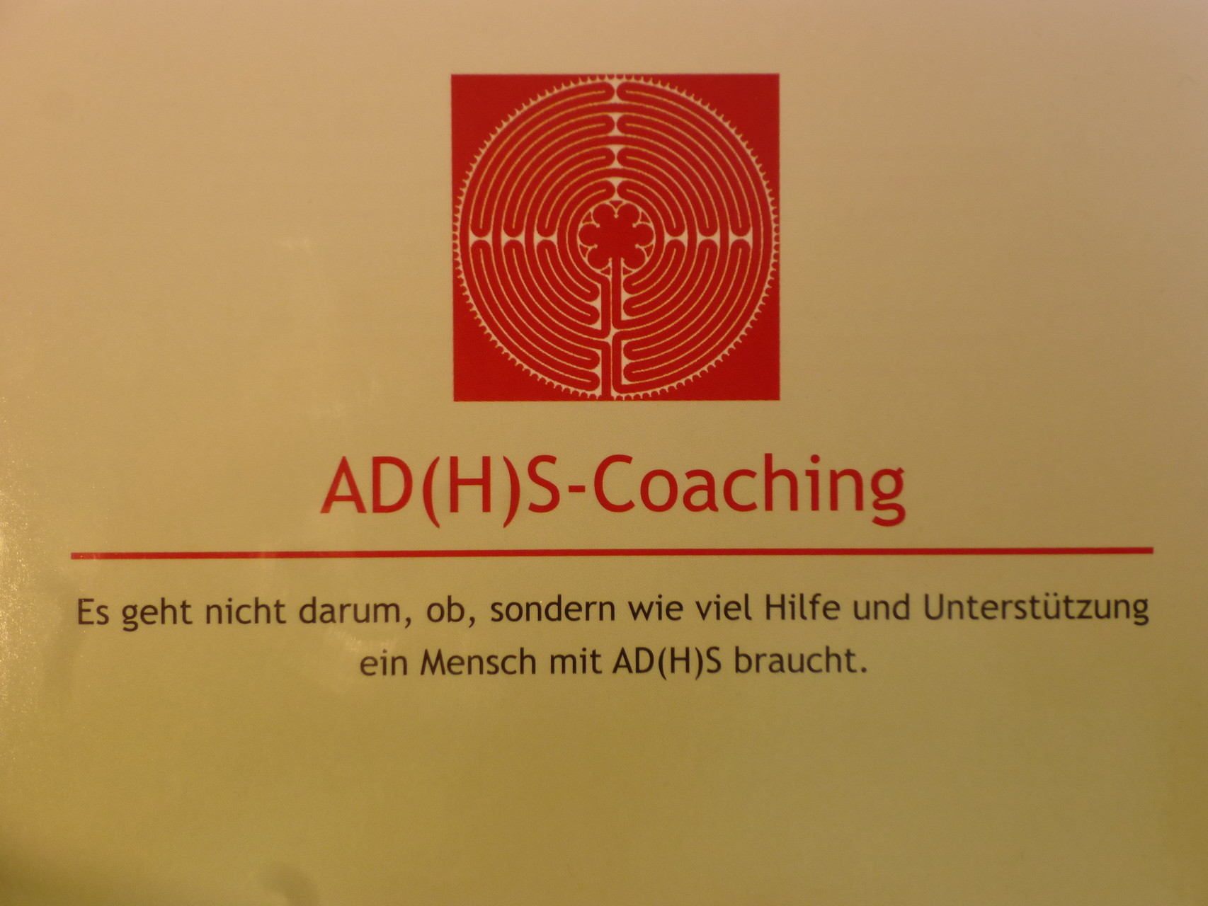 Flyer AD(H)S-Coaching!