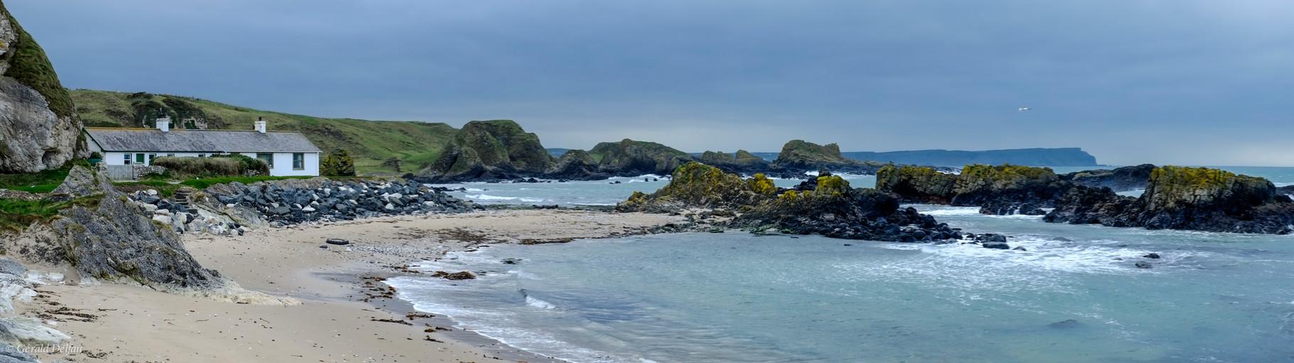 Irlande di Nord, plage de Ballintoy Harbour