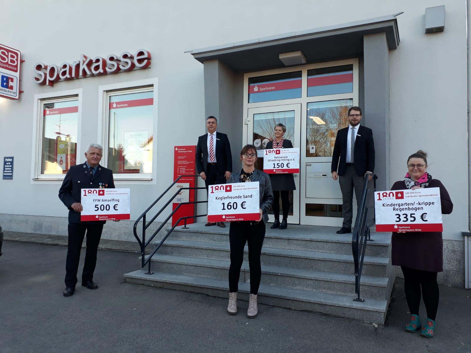 Spendenübergabe der Sparkasse Niederbayern-Mitte