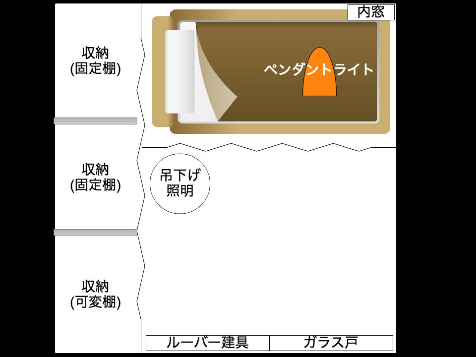 四畳半の和室を3つのスペースに