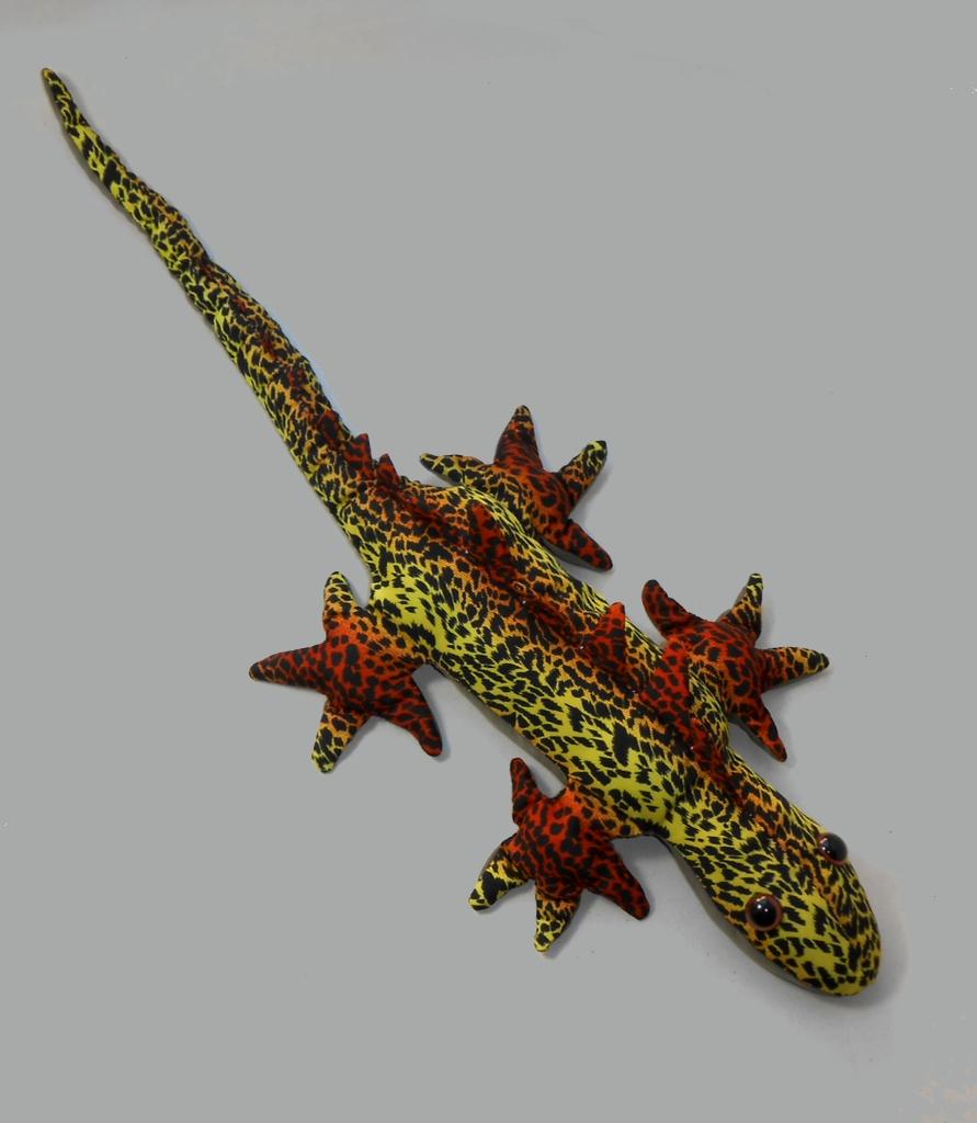 Leguan Sandtier Braungelb mit Flecken