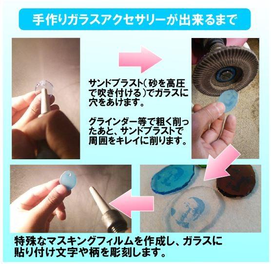 手作りガラスアクセサリーが出来るまで2 サンドブラスト加工 7-Colors 鶴岡ガラスアート工房