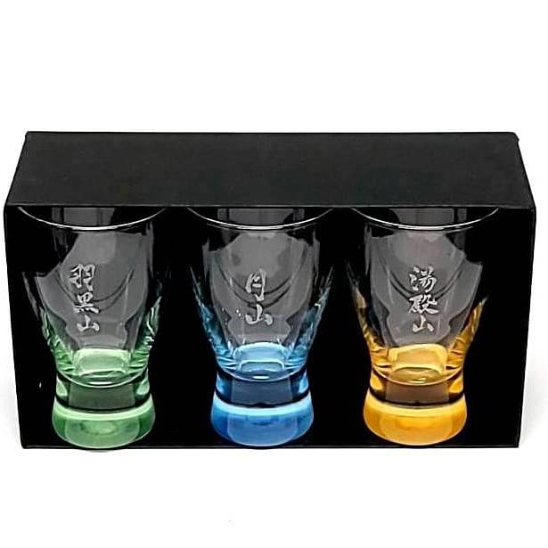 出羽三山丑歳御縁年 限定記念品 冷酒グラスセット「San-Yama Glass」 \2,800