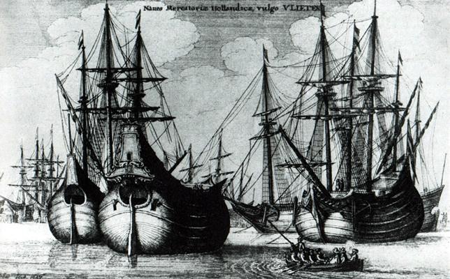 Fluitschip. Afbeelding via Wikipedia.