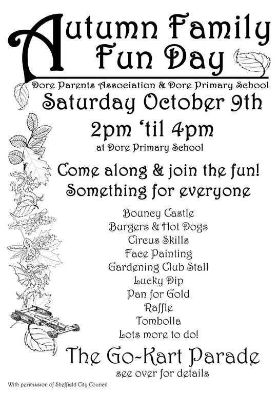 Dore primary school Autumn fair flyer