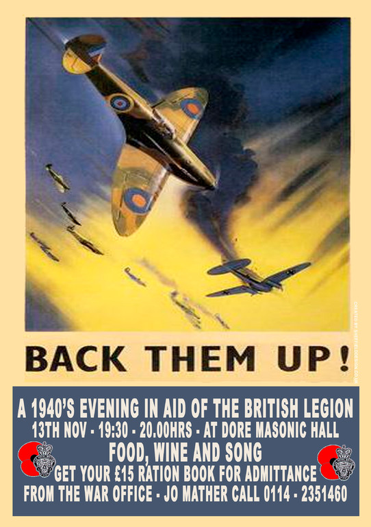 1940's event poster