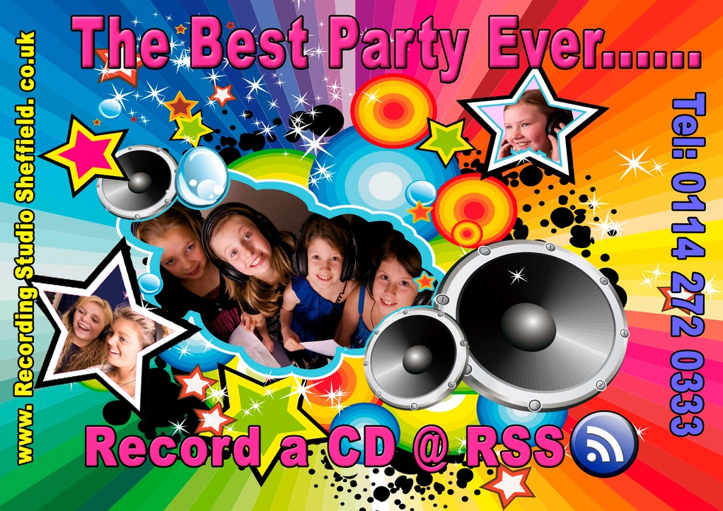 Childrens party flyer side one