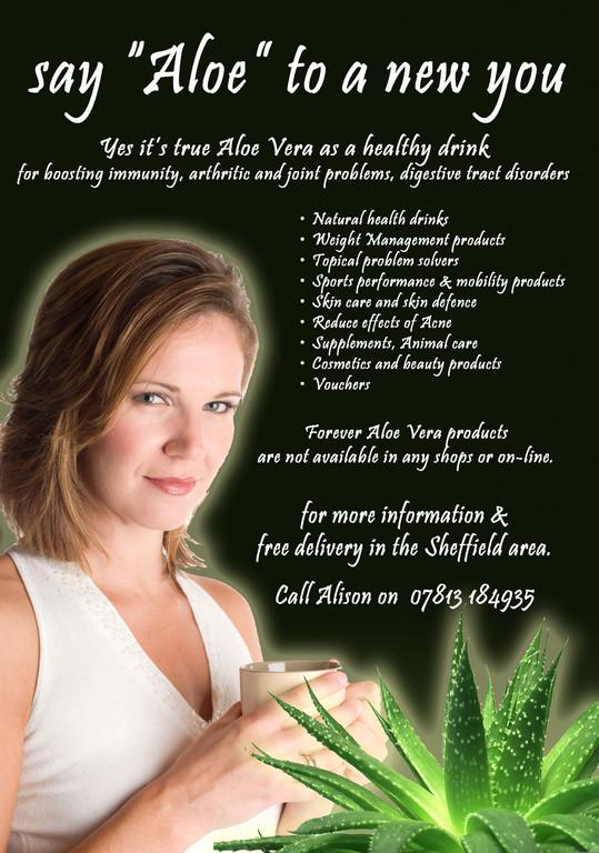 Aloe Vera new product leaflet