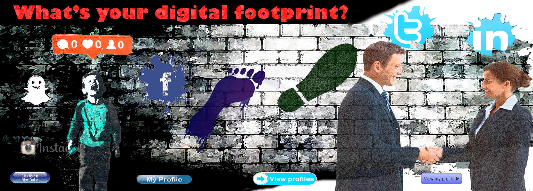 Sheffield University Digital footprint page header