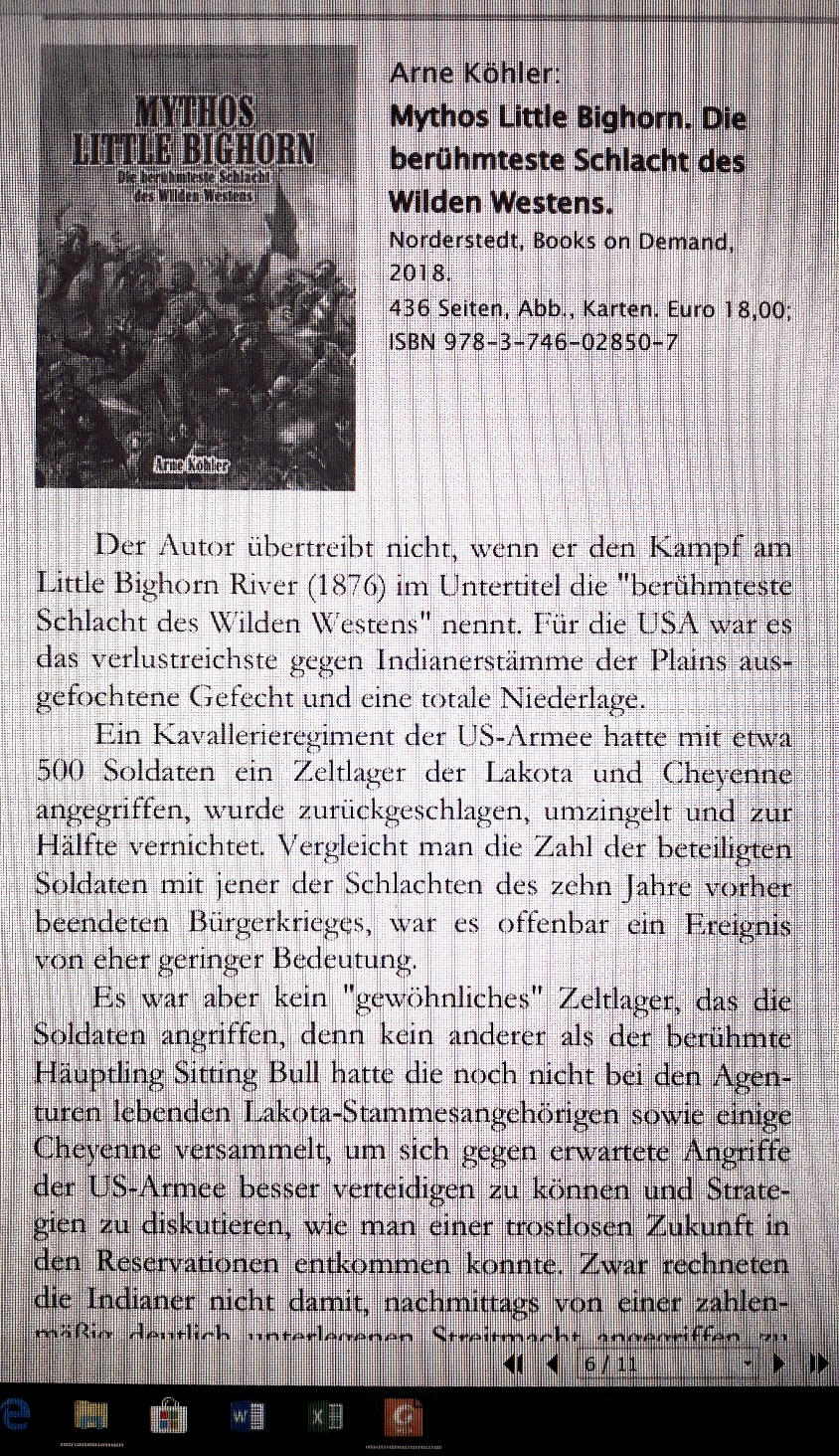"Rezension von ""Mythos Littlebighorn"" im AmerIndian Research 03-2018"