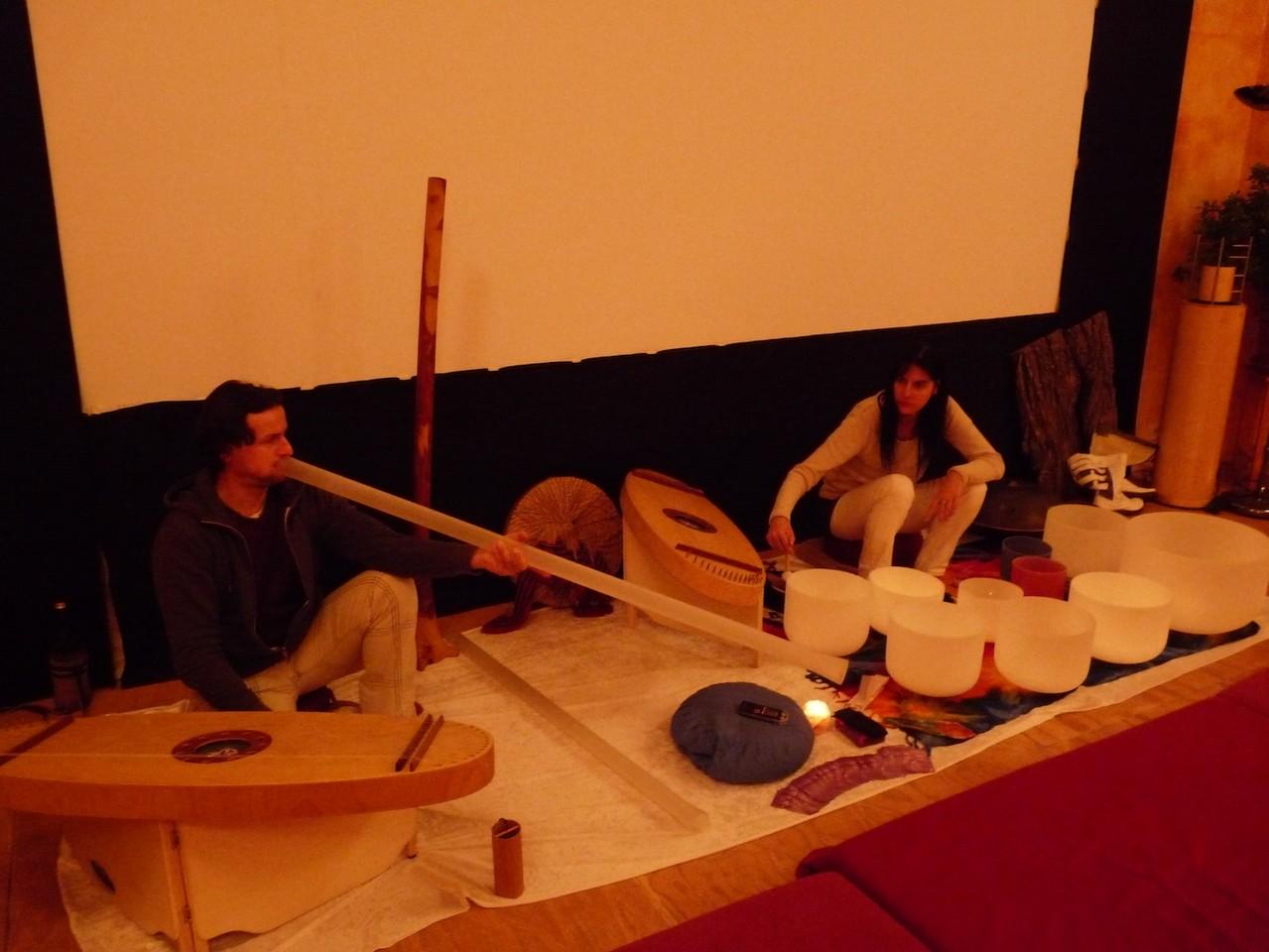 3. weltweite Klangvernetzung- Leipzig Forum Weltenwandel 12-2012. Foto: Privat
