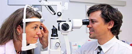 Untersuchung des Auges