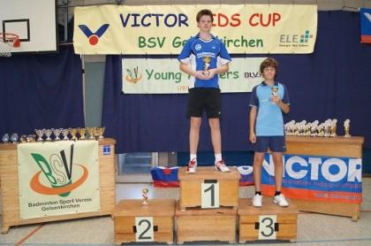 3. Platz in der Vereinswertung für den BSC Wesel, vertreten durch Dustin Rösen (1. von rechts).