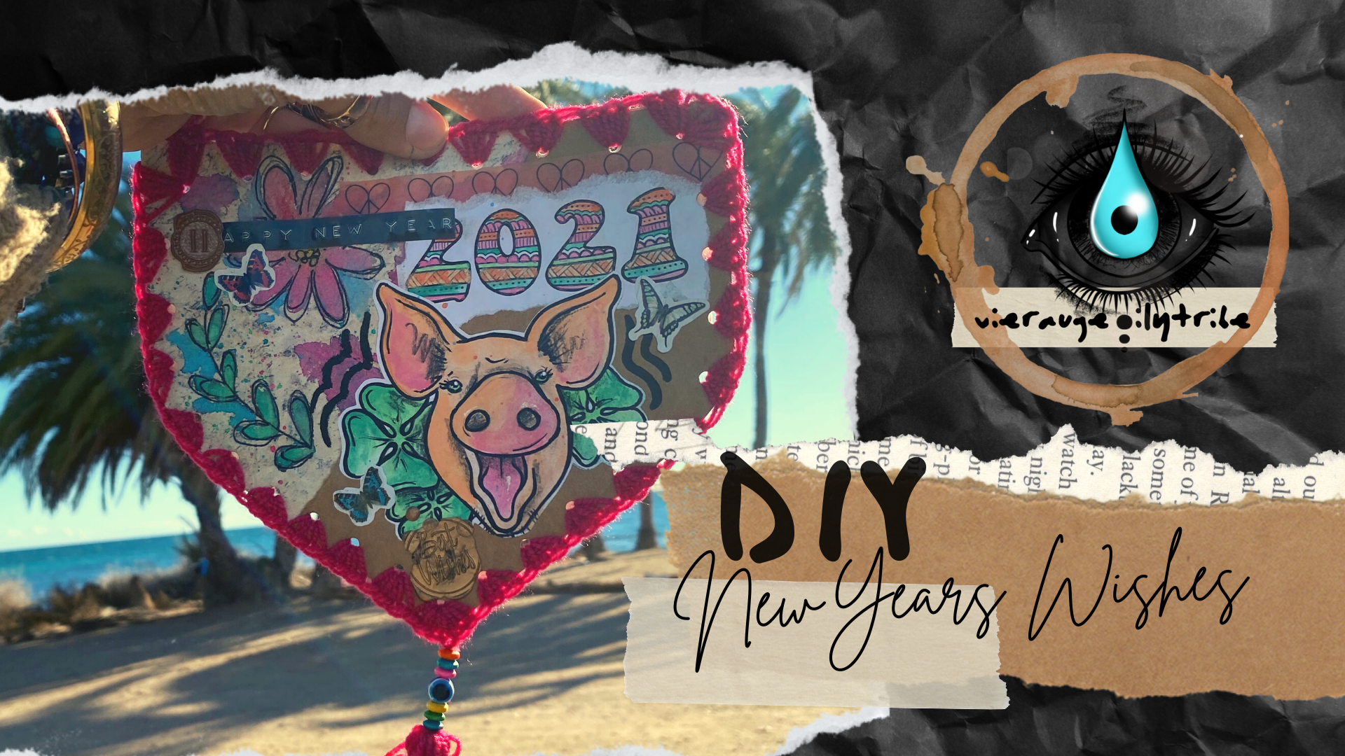 DIY Neujahrs Glückwunschkarten
