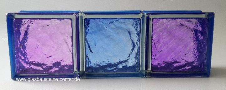MyMiniGlass MG/s MINI 14,6x14,6x8 15x15 Type Sophisticated Violet Ruby Blue Seves Design Glasbausteine Glasstein Glass Blocks Glass Blokker France Glasblokke Briques de verre Glasblock Glasbaksteen Glazen Bouwstenen Glasblock Österreich Danmark Nederland