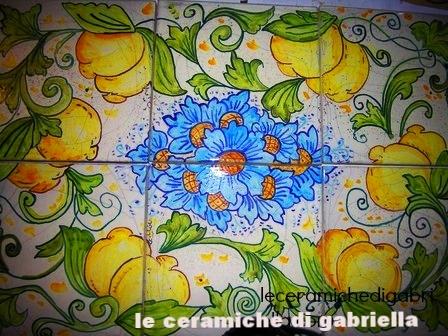 Keramik-Kunst pannello di ceramica con limoni итальянская керамическая искусства