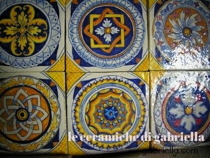 Pannelli di ceramica artistica maiolica antica riproduzione ...