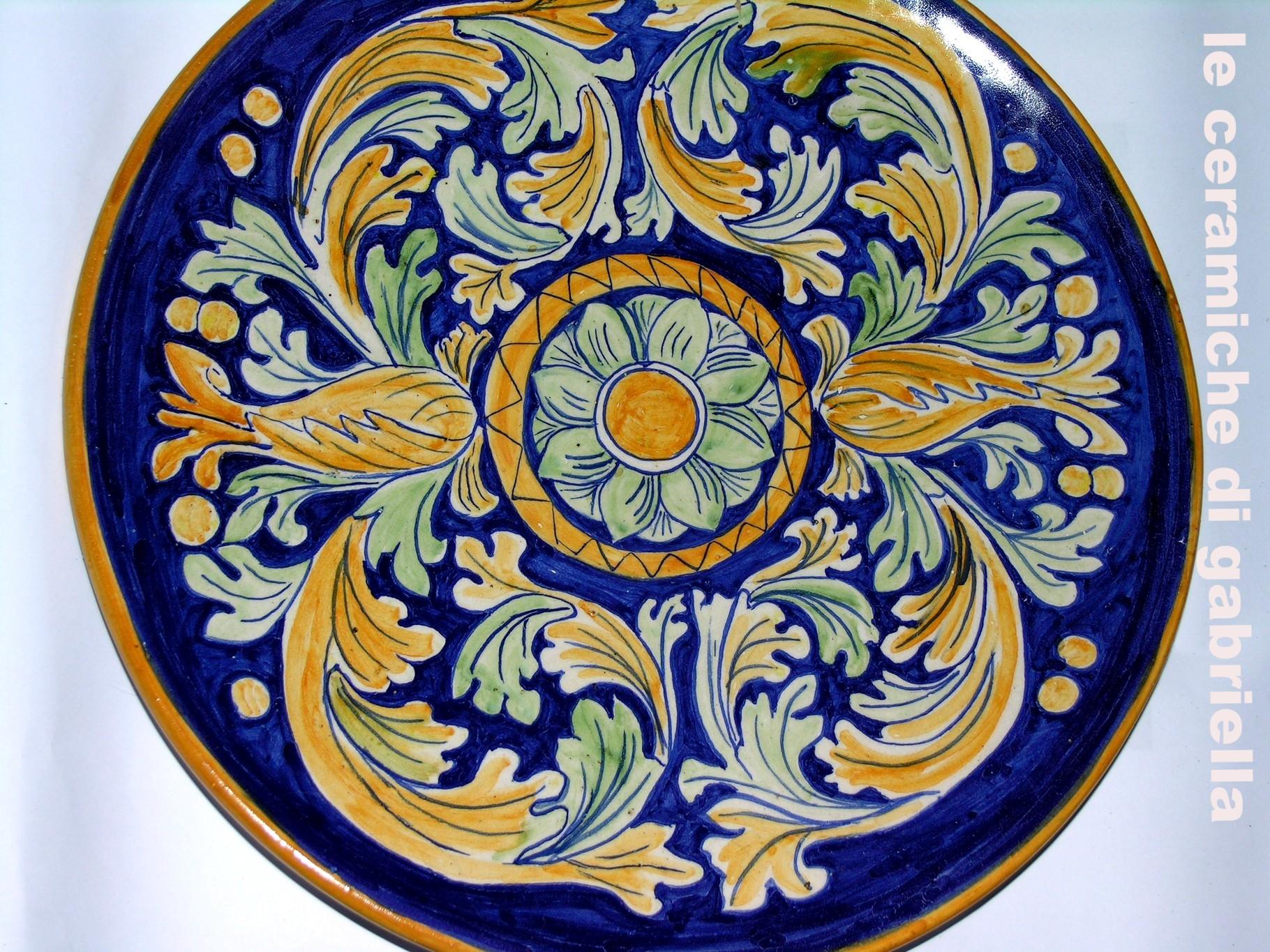 piatto ceramica maiolica ceramica artistica