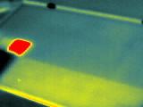 1 wärmerer Substring und eine stark erwärmte Zelle, dies stellt eine übliche Wärmeverteilung bei Verschattung dar