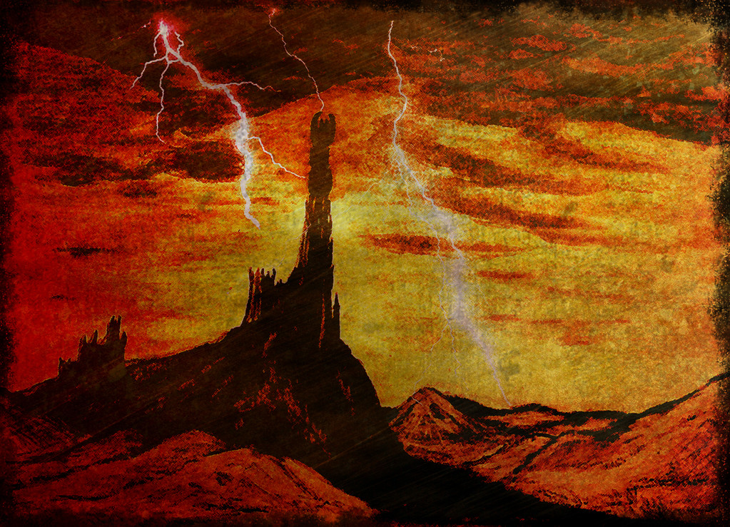 Dol guldur (dessin sur papier, post traitement photoshop 7)