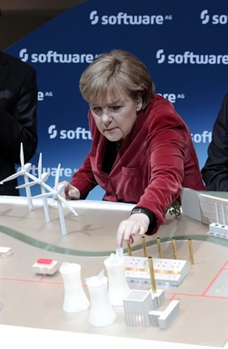 Angela Merkel (Chanceler da Alemanha) / fontes de energia.