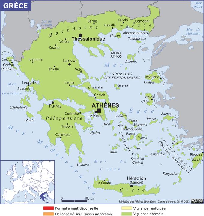 carte grece