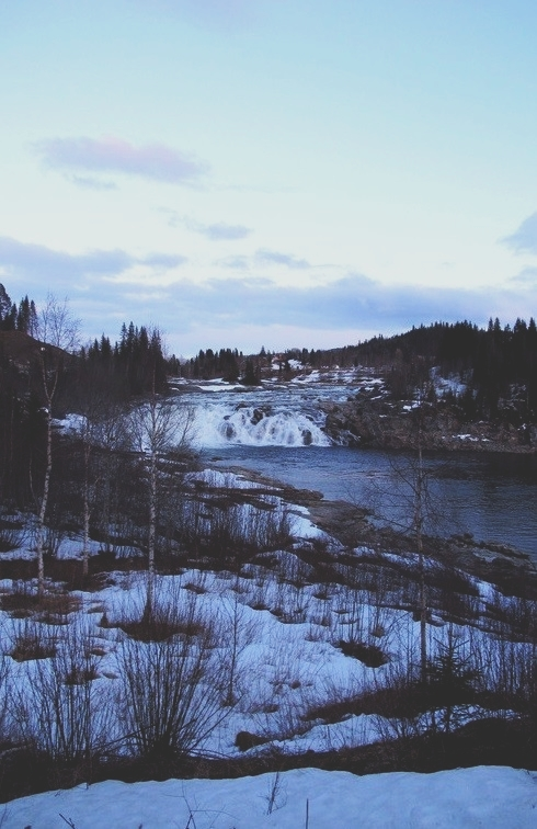 bigousteppes norvège chutes vallée vefsna glace neige