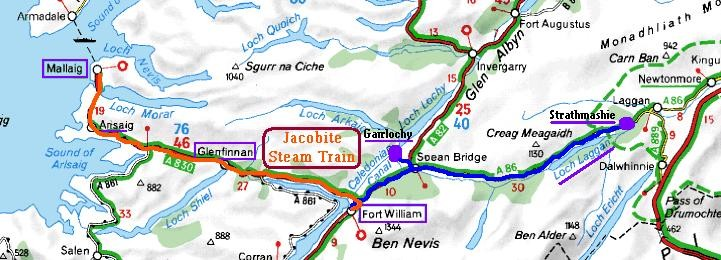 carte jacobite train