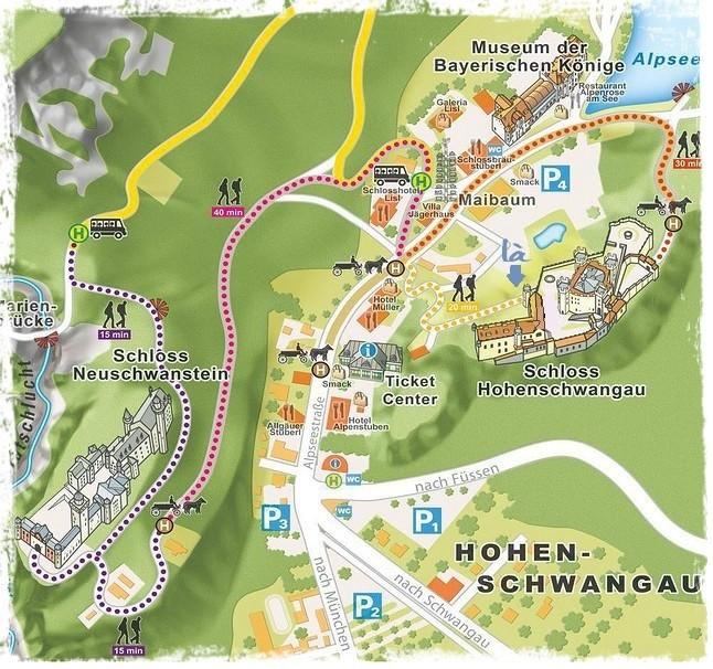 carte hohenschwangau