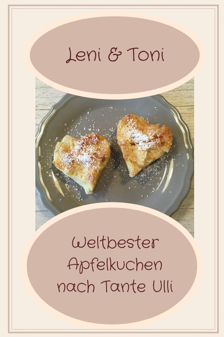 Pinterest Grafik Apfelkuchen von Leni und Toni