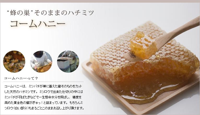 コームハニーはミツバチが巣に蓄えた蜜そのものをカットした天然のハチミツです,はちみつオンライン通販ビーハニー