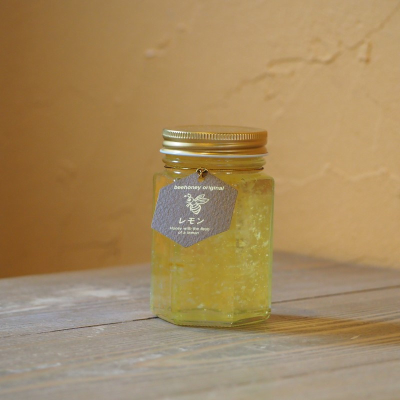 【精製蜂蜜】レモン果肉入りはちみつ200g,はちみつオンライン通販ビーハニー