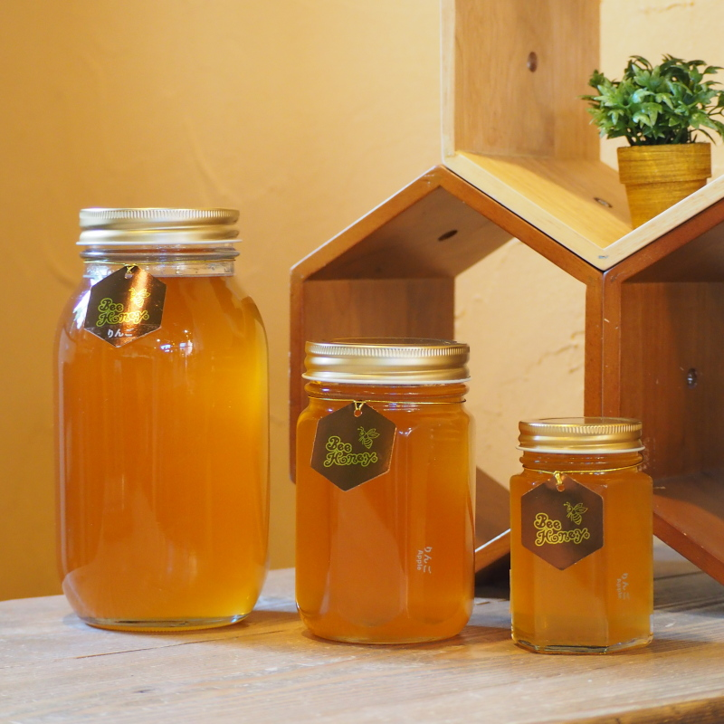 【国産純粋蜂蜜】りんごはちみつ,Bee Honey,はちみつオンライン通販ビーハニー