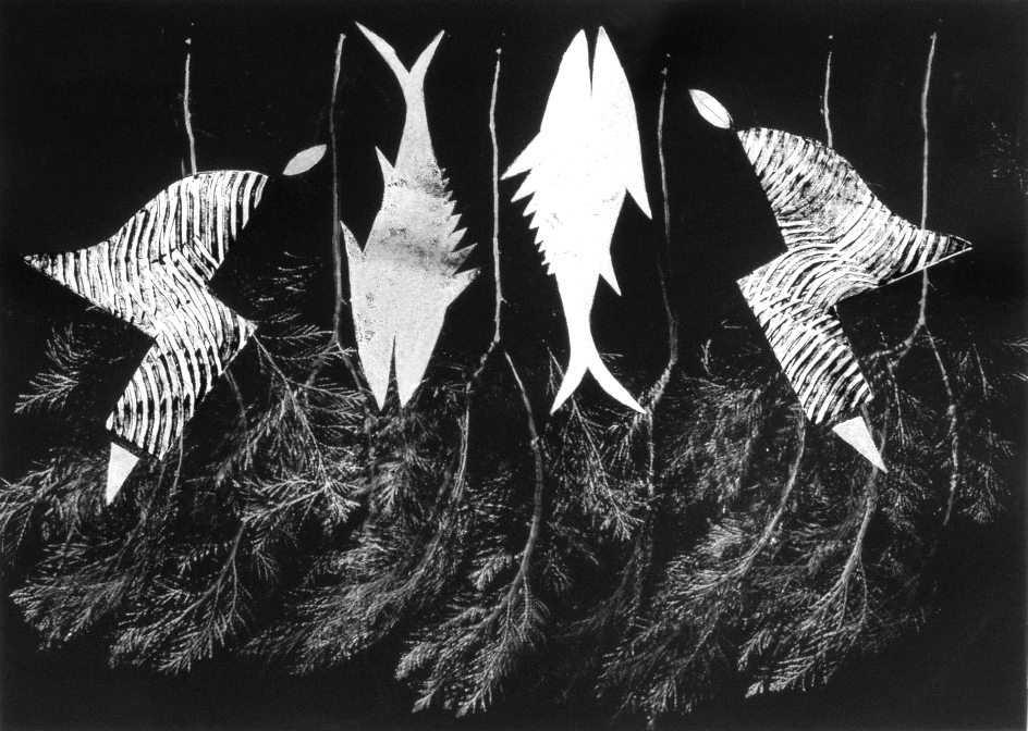 Aus der Serie Il Cibo. Gedankenverloren 2001 70 x 50 cm Mischdrucktechnik