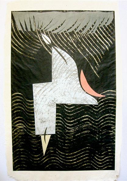 Aus der Serie Il Cibo. Luna rossa 2000 42 x 28,6 Mischtechnik