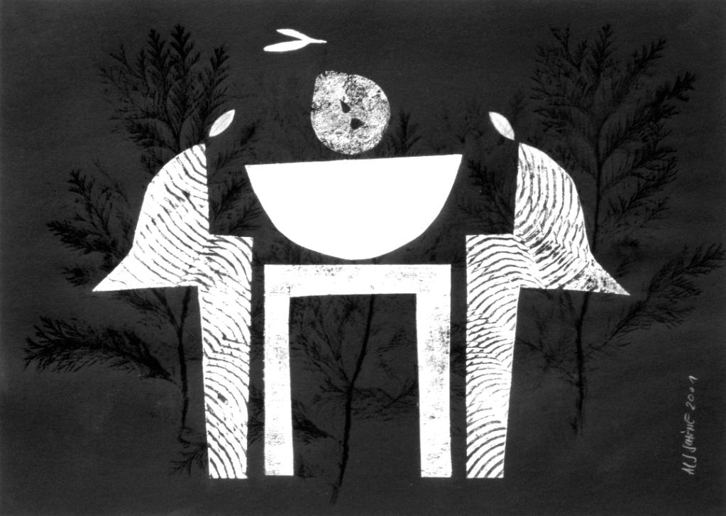 Aus der Serie Il Cibo. Dessert 2001 70 x 50 cm Mischdrucktechnik