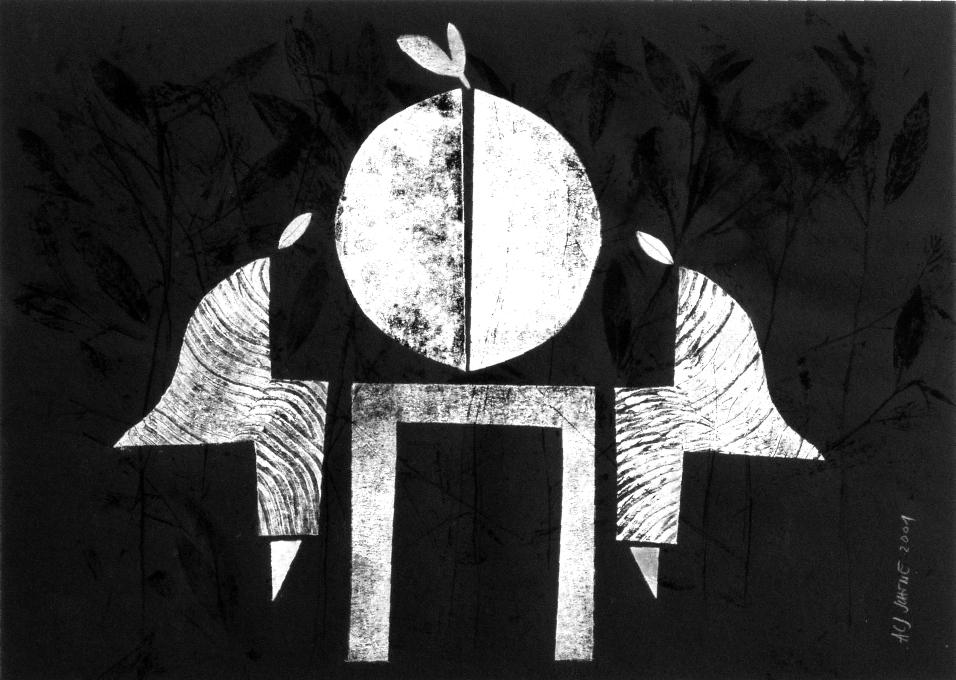 Aus der Serie Il Cibo. 2001 70 x 50 cm Mischdrucktechnik