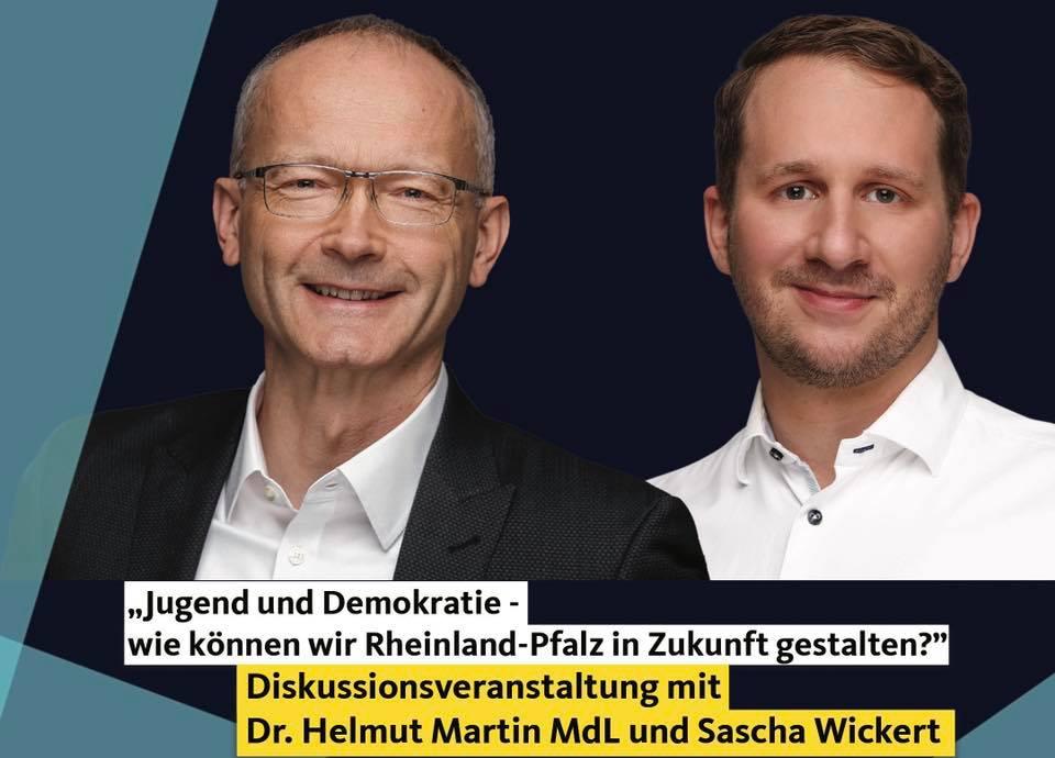"""+++ Veranstaltungstipp +++ Diskussionsveranstaltung des JU-Kreisverbands Bad Kreuznach zum Thema """"Jungend und Demokratie"""""""