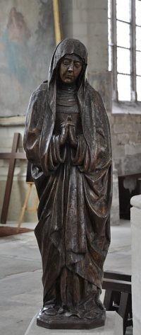 La Vierge Sculpture sur bois Elle provient de l'ancien jubé détruit en 1584