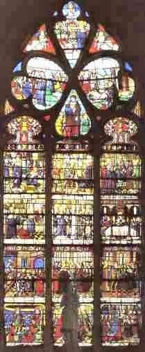 Verriére de l'église Ste Madeleine
