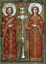 Sainte Hélène et son fils Constantin